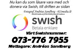 Nu kan du som läsare vara med att donera via Swish till driften av 021media.se