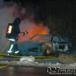 2011-12-26 Bilen i Hedensberg började brinna igen
