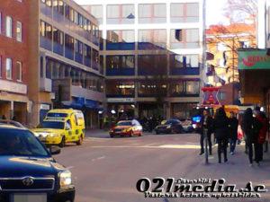 Brand i fläkt på Grekiska Kolgrillsbaren i Västerås. Foto: Kenny Sundqvist/Läsarbild