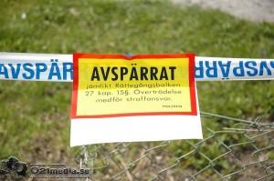 Två rum är avspärrade i huset i väntan på Lokus. | Foto: 021media.se / ARKIVBILD