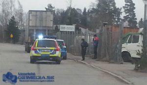 Stopp och kontroll på Branthovdagatan i Västerås. Foto: LÄSARBILD/021media.se
