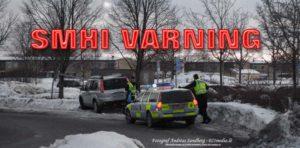 SMHI Varning Snö