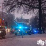 2018-01-12: Trafikskyltar nermejade vid olycka