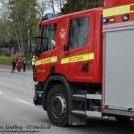 2015-05-16: Brinnande bil på E18