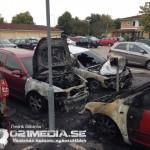 2016-03-19: Sex bilar förstörda i brand